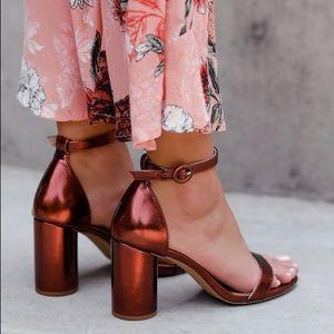 NWT LuLu's Copper Heels